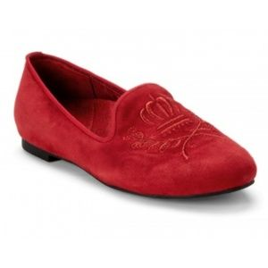 Vionic - Romi Snug Red Velvet Smoking Flats